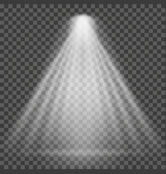 light beam on transparent background bright vector image