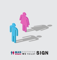 man and woman toilet wc restroom sign isometric vector image vector image