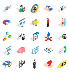 new workforce icons set isometric style vector image