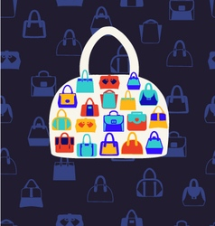 set icons of Women bags vector image