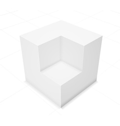 3d abstract background cube vector image