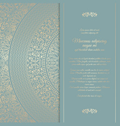 beautiful floral square invitation card with vector image