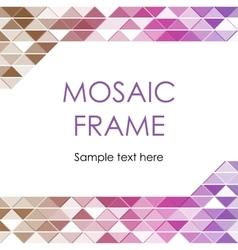 Triangular Mosaic Frame vector image vector image