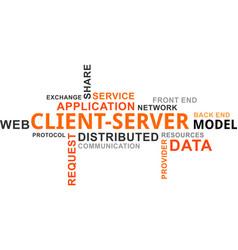 word cloud - client server model vector image vector image