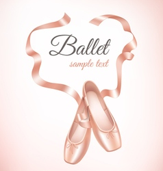 Ballet shoes on background vector image