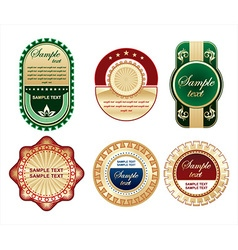 Golden label collections vector