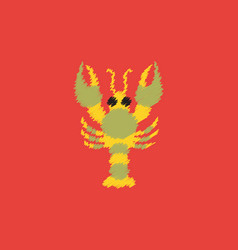 Lobster in hatching style vector