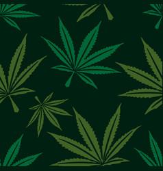 marijuana leaf seamless pattern vector image