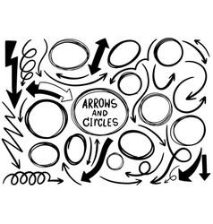 0001 hand drawn scribble circle vector