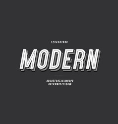 3d bold typeface white color vector