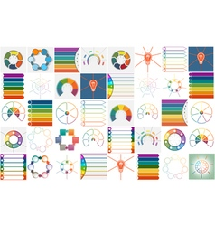 40 templates Infographics cyclic processes vector