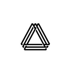 A letter triangle logo icon vector
