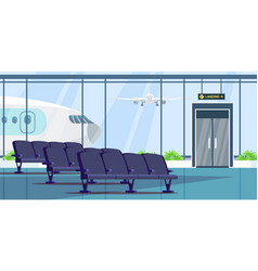 airport terminal waiting room flat vector image