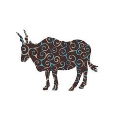 Antelope canna mammal spiral pattern color vector