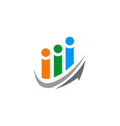 Arrow people group logo vector