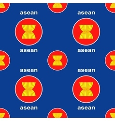 Asean union emblem seamless background vector