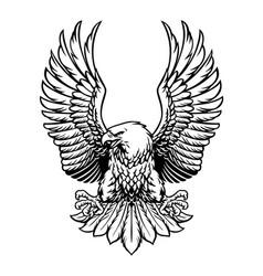 Bald eagle spreading his wings vector