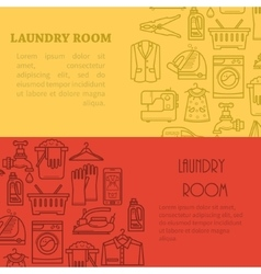 Banner laundry room vector