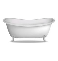 Bathtub mockup realistic style vector