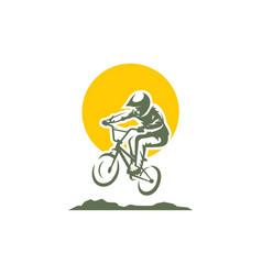 Bicycle sport logo icon vector