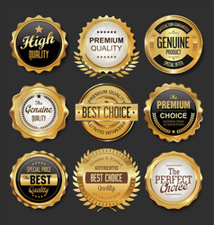 Black and gold badges super sale collection 0017 vector