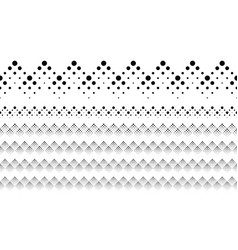 Black and white abstract repeating dotted pattern vector