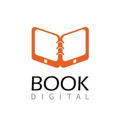 Book digital logo vector