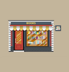 Book shop or store building vector