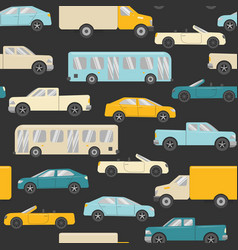 bright seamless pattern with cars vector image