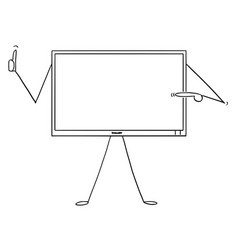 cartoon of computer or tv or television monitor vector image