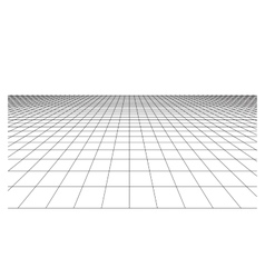 Checkered floor with square tiles in perspective vector