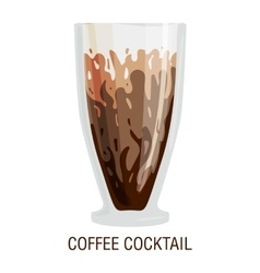 Coffee cups different cafe drinks cocktail vector