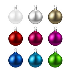 Colorful isolated round christmas balls set vector