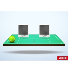 Concept participants playing tennis vector image