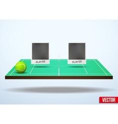 Concept participants playing tennis vector