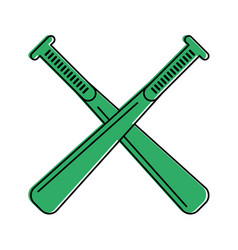 crossed baseball bats sport or fitness related vector image