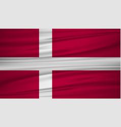 denmark flag flag of denmark blowig in the wind vector image