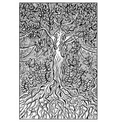 dryad engraved fantasy vector image