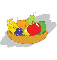 Fruit bowl vector