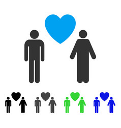 Gay lovers flat icon vector