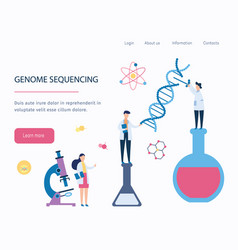 genome sequencing - dna medical research by vector image