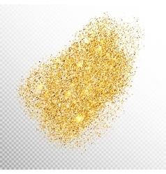 Gold sparkles on white EPS 10 vector