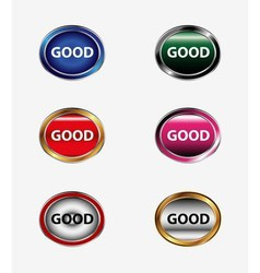 Good social media symbol icon button vector