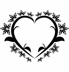 Heart floral tattoo vector