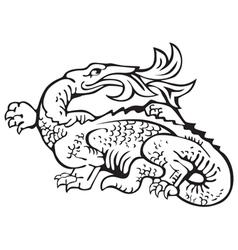 Heraldic dragon No11 vector