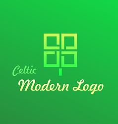 Irish Celtic Modern Logotype vector image