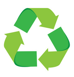isolated recycling symbol vector image