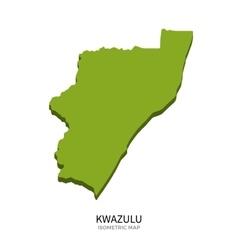 Isometric map of KwaZulu detailed vector image