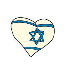 israel heart patriotic symbol vector image