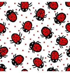 Ladybugs on white background vector